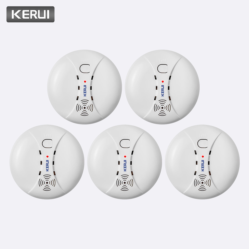 KERUI 5pcs High Quality Wireless Smoke Detector Fire Protection Sensor For Home Warehouse Shop GSM WIFI Security Alarm System