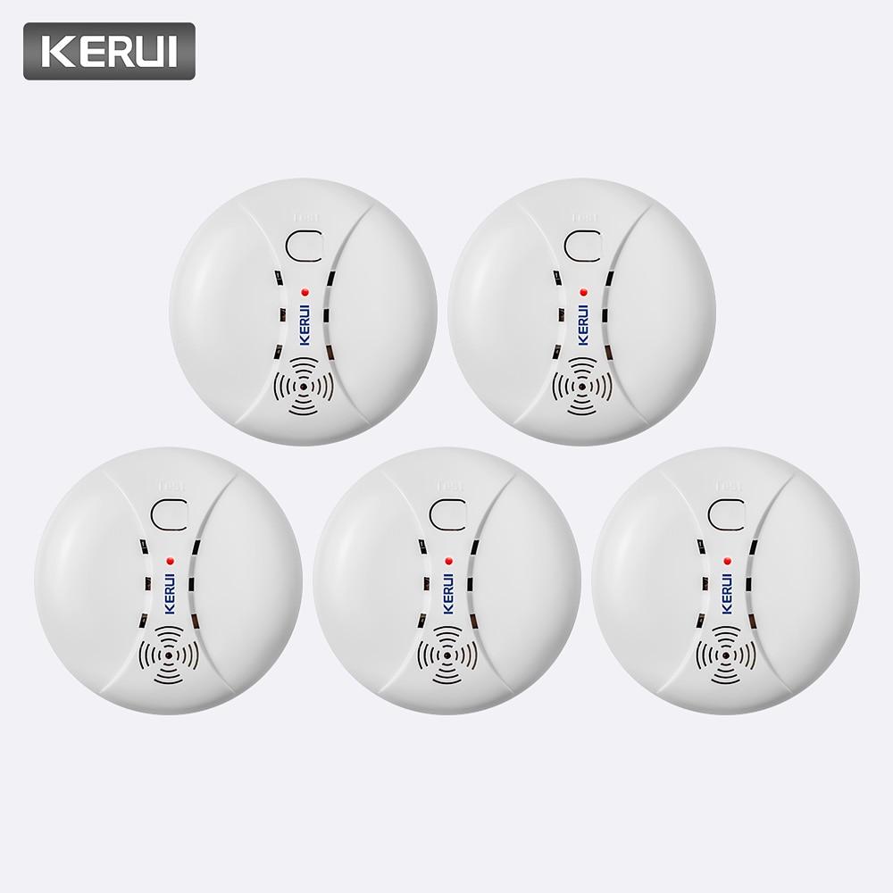 KERUI 5pcs High Quality Wireless Smoke Detector Fire Protection Sensor For Home Warehouse Shop GSM WIFI Security Alarm System