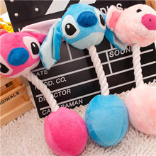 Free Shipping 3 Cartoon Pet Products Plush Toys Dog Toys Pet Cats Cute Biting Rope Sound Toys 31CM