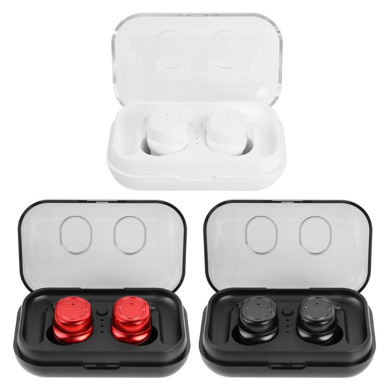 <font><b>T8</b></font> <font><b>TWS</b></font> Touch Control Bluetooth 5.0 Earphone Wireless Sports Mini In-ear Earbud with Charger Box for ios/Android Smartphone image