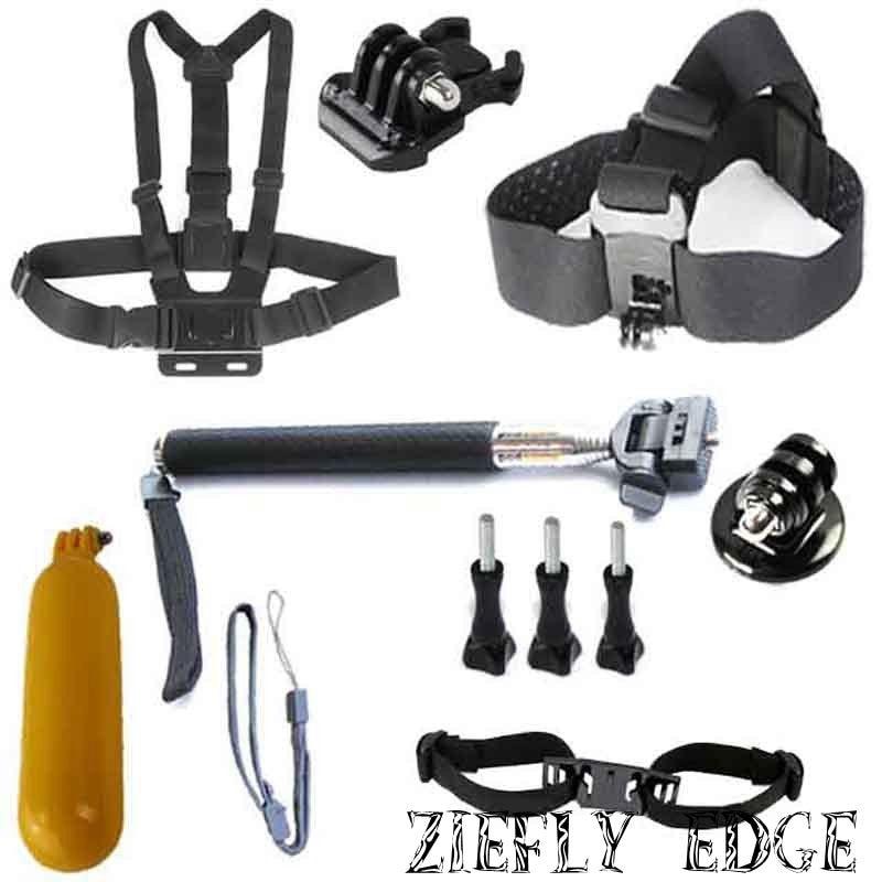 Gopro Hero Accessories Set Helmet Harness Chest Belt Head Mount Strap Go pro hero3 Hero4 2 3+ Xiaomi Yi Sj4000 Black Edition