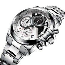 Men's Luxury Fashion Sport Quartz, Full Steel Waterproof Business Watch