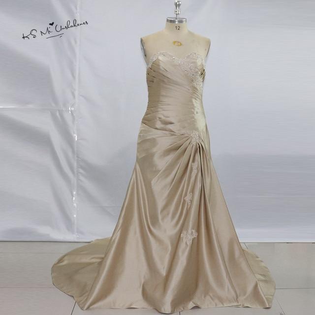 Vestido De Noche Plus Size Champagne Formal Evening Dresses Long