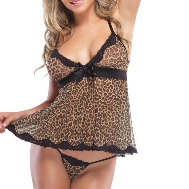 Leopard Printed Sexy Babydoll