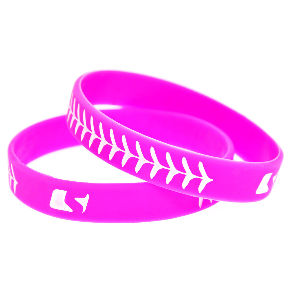 ᐂOneBandaHouse 50PCS/Lot Pink Bracelet Ink Filled Logo Tire Design ...