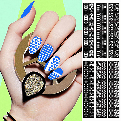 New High Quality Easy Reusable Stamping Tool DIY Nail Art Template Stickers Stamp Stencil Guide