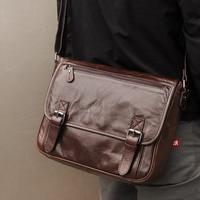 J.M.D Genuine Leather Briefcase Vintage Cross Body Purse Men'S Messenger Bag 7022Q