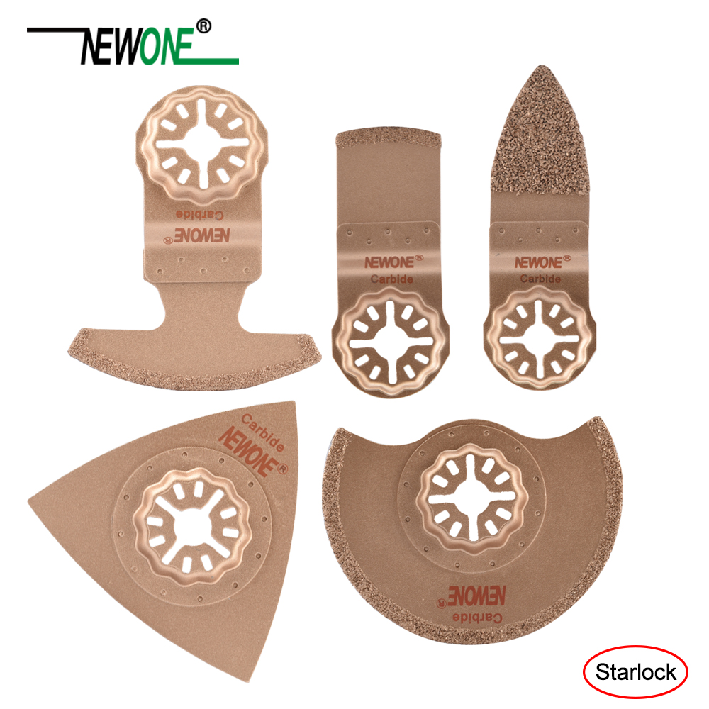 Newone One-piece Carbide Starlock Saw Blade Multi Saw Blade Oscillating Tool Blades Fit For Bosch And Fein Starlock Multi-tools