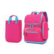 Mädchen schultasche set lunch box fall Koreanischen stil elementare schule rucksack pink nette bleistift fall mode bookbag für kinder