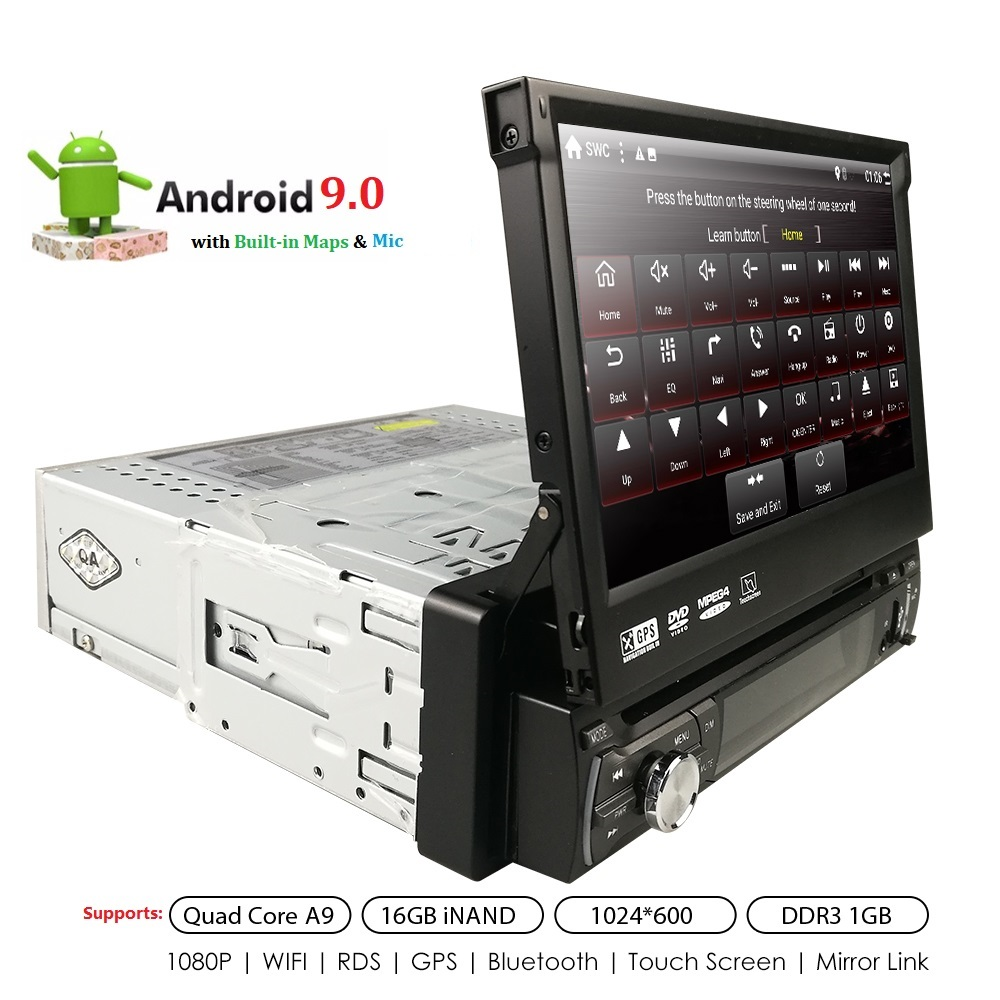 Universal <font><b>1din</b></font> Car Radio <font><b>Android</b></font> GPS Bluetooth <font><b>Autoradio</b></font> Stereo Mirrorlink Multimedia Nav Player SWC DAB+TPMS RDS DVR BT MIC MAP image