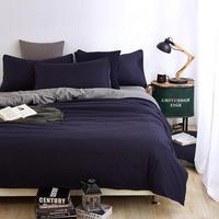 Khaki gray fashion twin full queen size duvet cover set bedding polyester adult bedsheet/bed linen pillowcase home textiles 4pcs