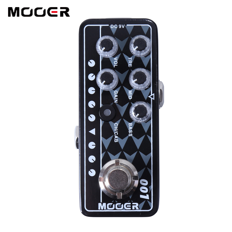 Mooer 001 Gas Station 3 Band EQ High Quality Dual Channel Preamp for Footswitch Operation Guitar Effect mooer 009 blacknight high quality dual channel preamp 2 different modes for footswitch operation guitar effect guitar