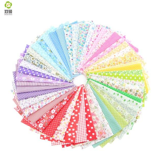Telas Patchwork Cotton Fabric Non Slip Fabric Print Fabric Floral Series Sewing Fabric Bundle 50pcs/lot 24cm*20cm A1-50-1