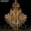 Lujoso candelabro de cristal Color dorado Lustres lámpara accesorio de iluminación 56 brazos candelabro para Hotel Lobby restaurante Kroonluchter