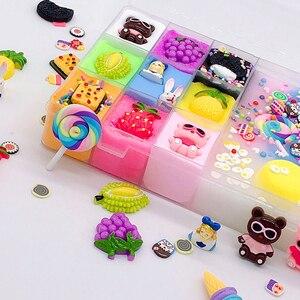 Image 5 - 500 ml DIY nuevos personajes Slime arcilla suave elástico fruta muñeca limo niños juguetes para niños Regalo de Cumpleaños de Navidad conjunto
