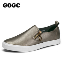GOGC 2017 Spring Breathable PU Leather Woman Flats Moccasins Comfortable Woman Shoes Sneakers Flat Shoes Women