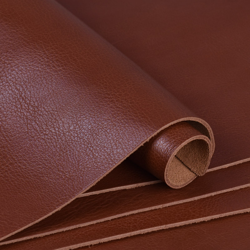 2pcs DIY Leather Craft Making Full-grain Wrestling Cattle Hide Leather With Brown Thick 2.2mm 22x30cm