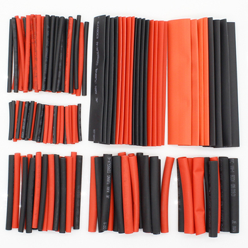 150 PCS 7.28m Black And Red 2:1 Assortment Heat Shrink Tubing Tube Car Cable Sleeving Wrap Wire Kit - sale item Electrical Equipment & Supplies