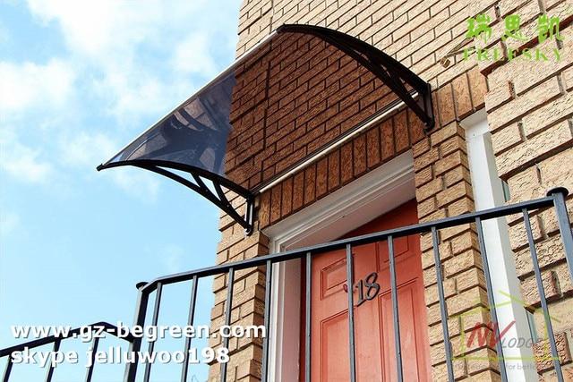 """YP80100 80x100 cm 31.5x39 """"do sol policarbonato toldo, dossel toldo da janela e da porta com plástico suportes"""