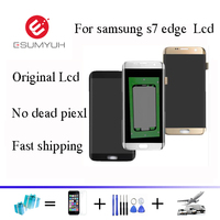 Black White Gold For Samsung Galaxy S7 Edge G935 G935A G935D G935F LCD Display With Touch