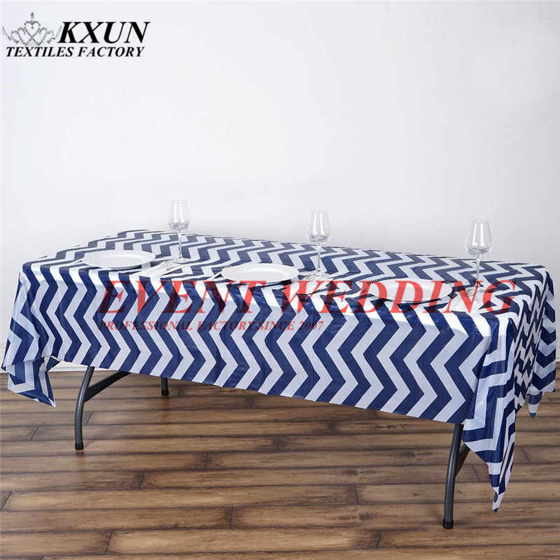 Good Looking Chevron Satin Table Cloth Wedding Tablecloth Event Party Decoration