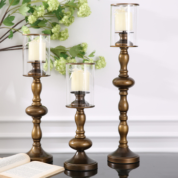 American soft decoration accessories assembly table continental Candlestick pub housewarming gifts with candles Including candle