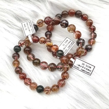 Top Natural Copper Colorful Rutilated Quartz Crystal Woman Man 5 Colors Bracelet Round Beads 7mm 8mm 9mm 10mm 11mm 12mm AAAAA