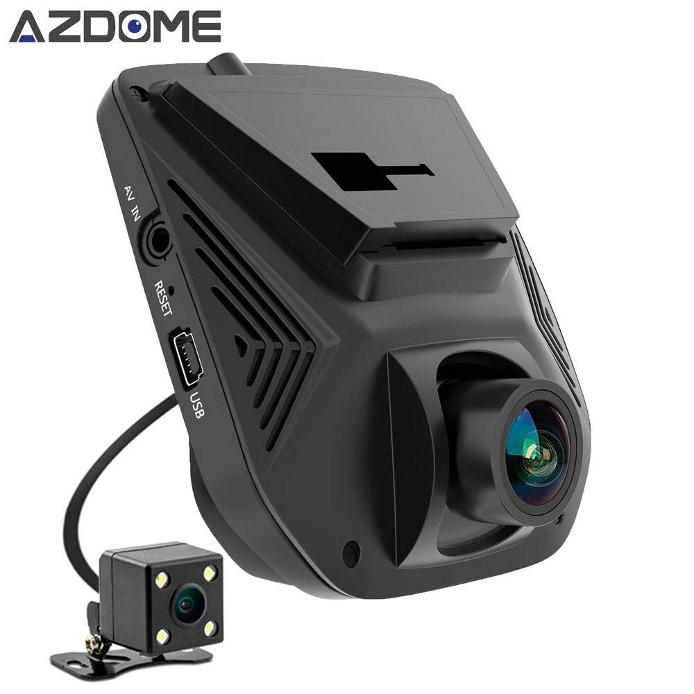 Azdome A305D Dual Lens FHD 1080P Car DVR Novatek 96658 LCD Screen Sony IMX323 Car Video Recorder Dash Cam With Rear Camera for honda ridgeline novatek 96658 fhd 1080p car driving video recorder mini dvr wifi camera black box dash cam