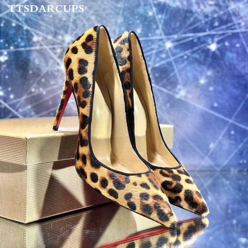 TTSDARCUPS Euro-American Fashion Street Racket Comfortable Four-season High-heeled Shoes Sexy Leopard Print Gladiator Pumps