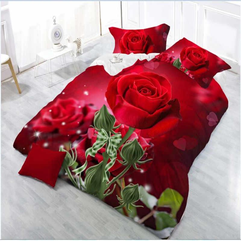 3D łóżko – zestaw kwiat pościel 2019 styl duszpasterski motyl zestaw pościeli paw pościel kwiat lilii