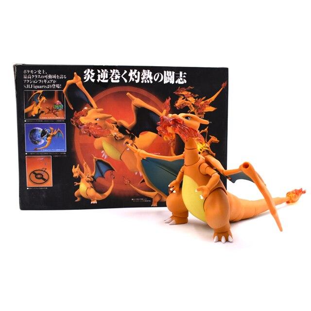 Movable Figura Modelo de Ação Charizard 13 cm Articulado Dragão Dolls Figuras Anime Brinquedos Dos Meninos Presentes de Natal Aniversário
