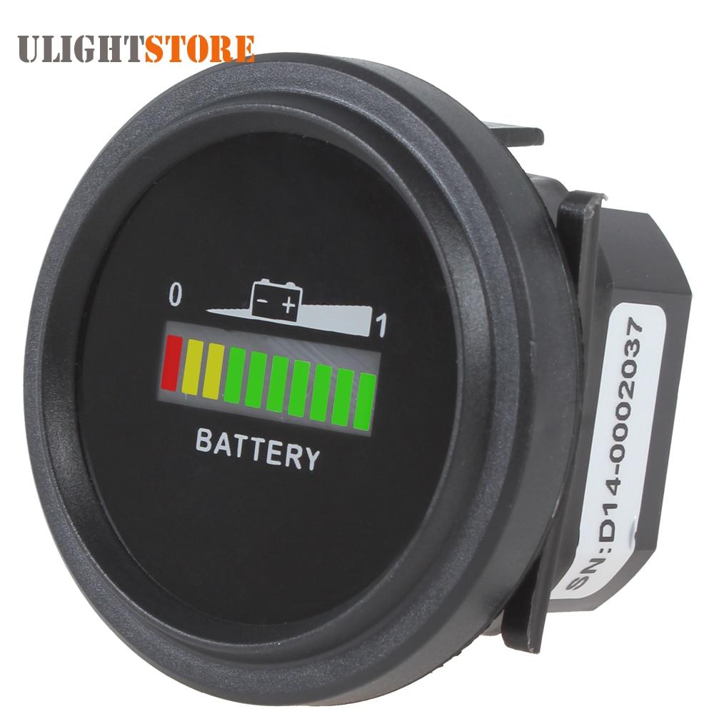купить 12/24V 36V 48/72V Universal Three-color LED lights Battery Indicator Charge Status Meter Gauge Auto Battery Capacity Tester по цене 949.25 рублей