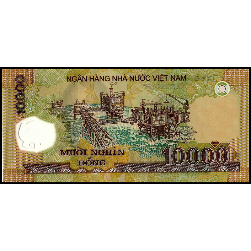 One Bundle of 100pcs Vietnam Viet Nam 10000 Dong Polymer Banknotes,Uncirculated
