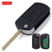 Keyecu 3pcs Lot New Uncut Folding Flip Remote Key 3 Button Fob 433MHz ID46 Chip Fit