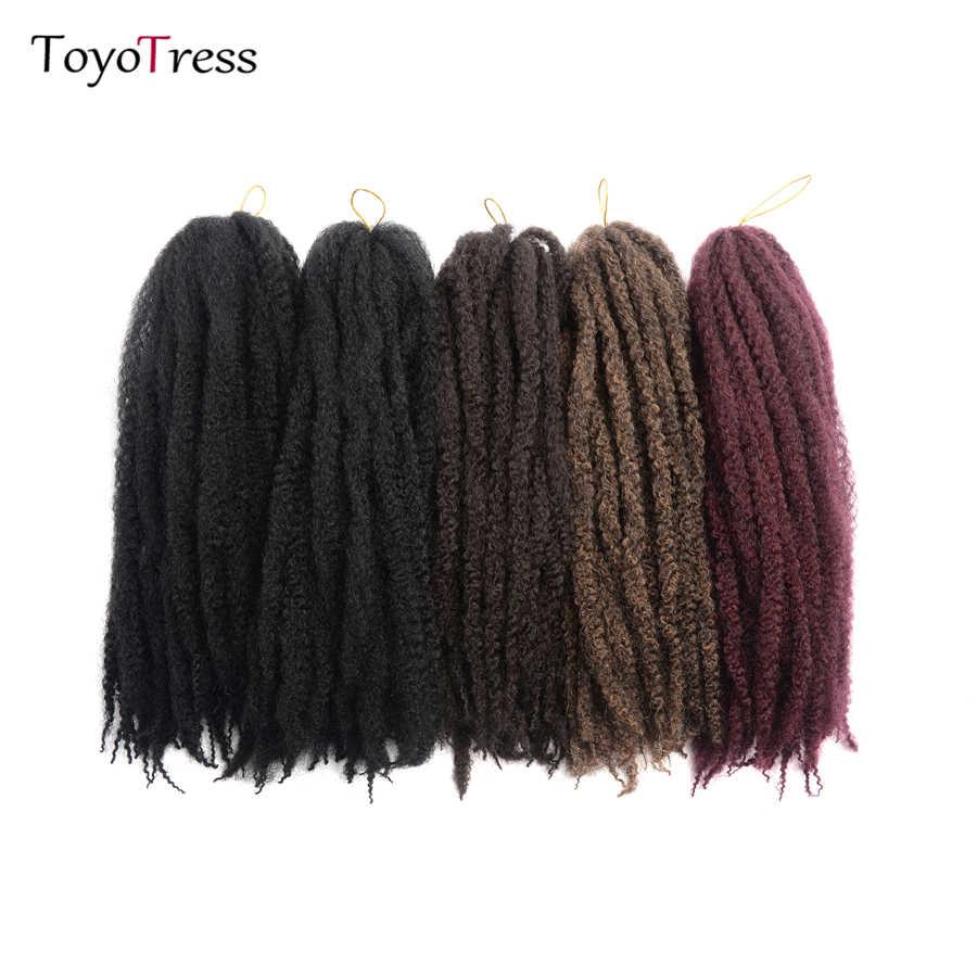 Toyotress ручной работы дреды волосы для наращивания фиолетовый кроше с Омбре волосы 18 прядей/упаковка синтетические крючком оплетка волосы для женщин