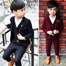 Boys Suits For Wedding 3Pcs/Set Child Wedding Formal Suit For Boy Party Sets Blazer Boy Clothing Blazers Clothes For Boys 3-10T недорого