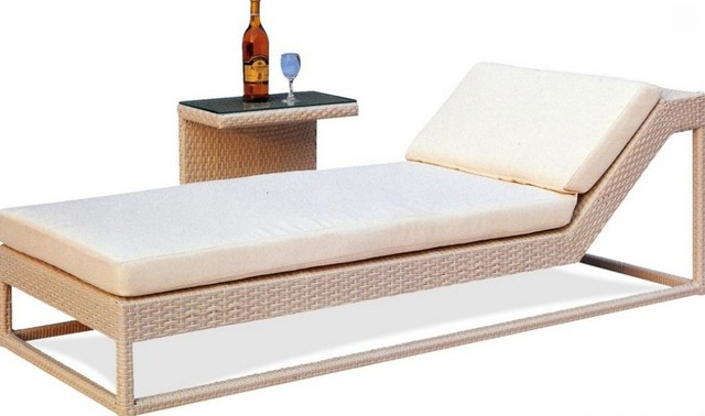 Leisure Outdoor Sunshine Rattan Daybed With Tea Table