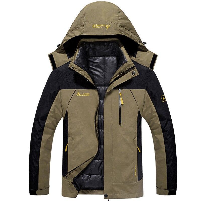 Veste de Ski hommes imperméable veste de Snowboard manteau thermique pour hommes hiver extérieur Ski de montagne neige vestes grande taille marque