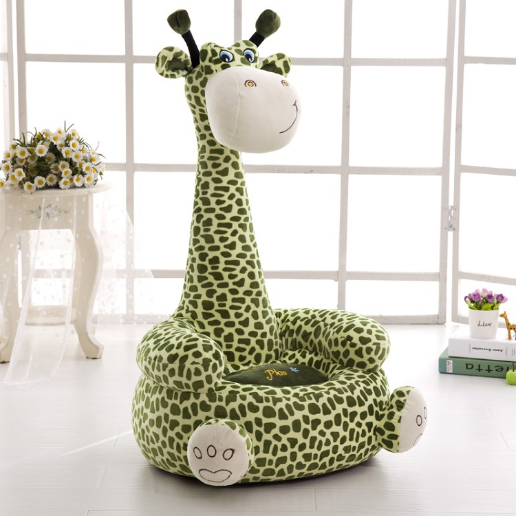 Cartoon Kids Seats Sofa Comfortable PP Cotton Animal Giraffe Elephant Big Size Baby Portable Chair Gifts Children's Plush Toy