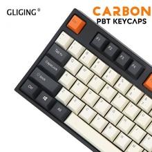 108-Key Топ гравировка боковой гравировки и пустой углерод ZEALER механическая клавиатура клавишные колпачки из ПБТ для вишневый выключатель MX