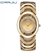 Золотые часы Для женщин Элитный бренд браслет дамы кварцевые часы Подарки для девушки Полный Нержавеющаясталь горный хрусталь наручные часы Whatch