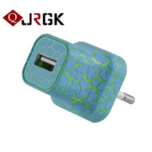 JRGK High Quality Crack Flash 5V 1A Wall Charger US EU Plug AC Power Adapter Home Travel Wall USB Charger for iPhone 6 7 Samsung