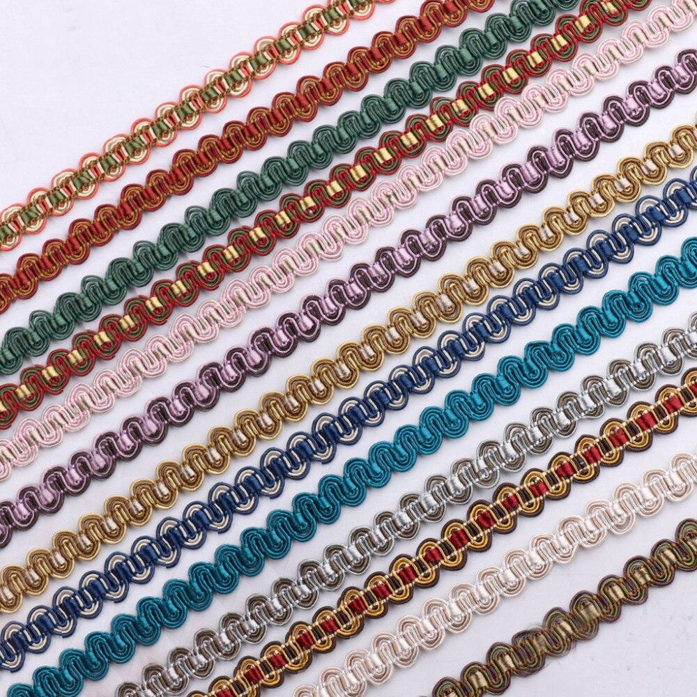 20M/lot 1.1cm Wide New Multi Color Small Lace Ribbon