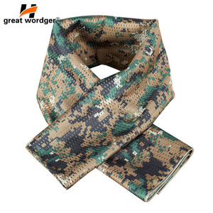 Image 4 - Military Tactical Windproof Camouflage Scarf Men Mesh Anti dust Army Winter Warm Scarves Men For Hunting Shooting Fishing Scarf