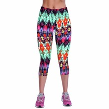 Summer Fitness Sportting Leggings Women Gothic Capri Leggings High Waist Printed Cropped Legins Fitness Workout Casual Trousers