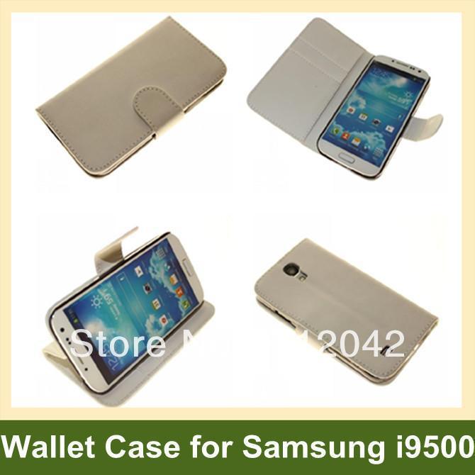 ac8d9430aeb Diseño simple plegable cartera para S4 i9500 pu cuero Flip caso para Samsung  Galaxy S4 i9500 envío libre