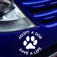 цены Adopt A Dog Save A Life Letters Paw Pattern Self-adhesive Car Sticker Auto  Decal