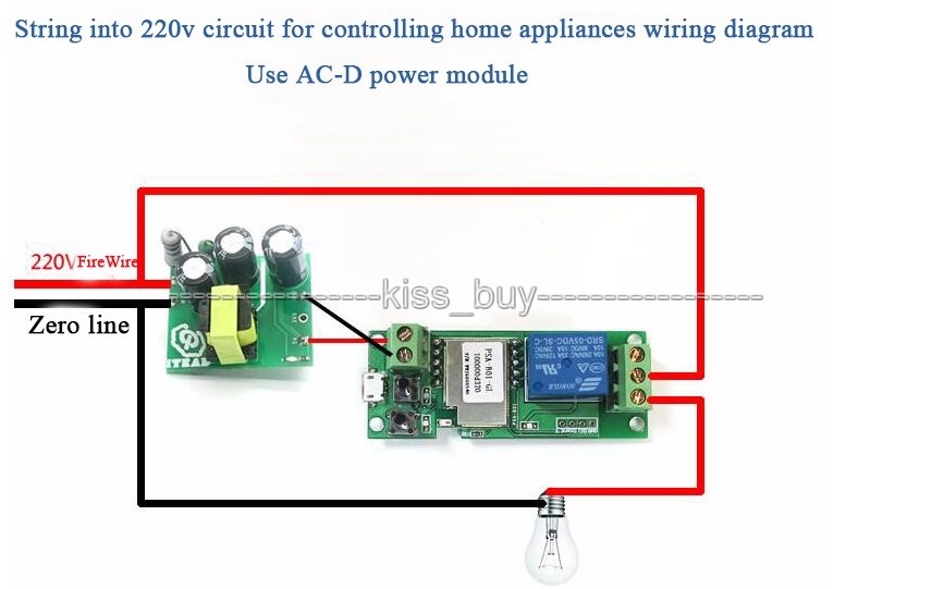 Sonoff WiFi Wireless Smart Switch Relay Module 5v for Smart Home Apple Android sonoff wifi wireless smart switch relay module 5v for smart home sonoff wiring diagram at panicattacktreatment.co
