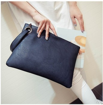 Raaqy Envelope Style Leather Clutch Bag