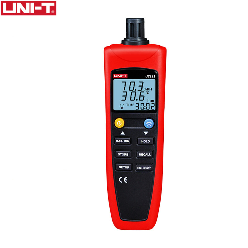UNI-T UT331 Digital Thermo-Hygrometer Temperature Humidity Unit Selection USB Interface Humidity Moisture Meter Tester Backlight uni t ut331 digital thermo hygrometer humidity moisture meter tester thermometer temperature w lcd backlight